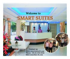Smart Suites is a stylish boutique hotel located just a few minute's walk from the sky train Nana Station in central Bangkok. Affordable Hotels, Home And Away, Bangkok, Train, Sky, Boutique, Mirror, Stylish, Heaven