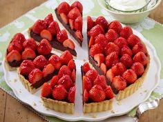 Schoko-Erdbeer-Tarte