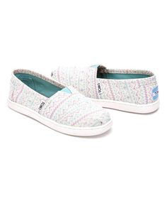 Loving this TOMS Pastel Geo Glimmer Classics - Youth on Kid Shoes, Girls Shoes, Geo, Little Girls, Toms, Youth, Pastel, Slip On, Classic