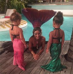 The cousin BFFs have out-cuted themselves! North West and Penelope Disick love spending time together, and we can never get enough of the adorable things they do. While on vacation in St. Barts, they might have reached their cutest level yet by becoming little mermaids!