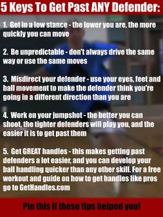 5 Keys To Get Past ANY Defender #basketball #ballislife
