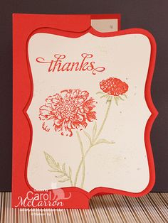 A Crafty Cat  - Stampin' Up! Top Note Die, Field Flowers.
