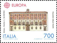 """1990 - """"Europa Unita"""": """"Edifici Postali"""" -  Palazzo delle Poste di Piazza San Silvestro a Roma"""