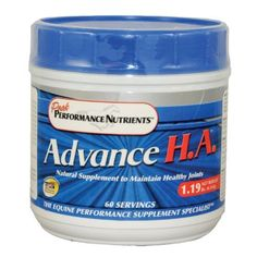 ADVANCE HA - 1.19 LB-60 days by Advance HA. $60.95. Advance H.A. provides an effective half dose of Glucosamine combined with glucose neutral Hyaluronic Acid, Esdter-C, Boswellia and Chelated Minerals to make a comprehensive joint support formula for glucose intolerant horses.  Glucosamine plays a very important role in overall joint health and is possibly the most effective part of any joint supplement and therefore too important to be eliminated entirely.  Ad...