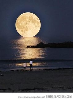 Full moon in Greece...i want to see this someday!