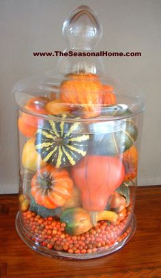 Fall Apothecary Jar (just one of many on The Seasonal Home blog)