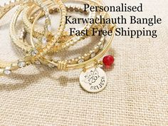 Name Bracelet, Gold Bangle Bracelet, Gold Bangles, Jewelry Cleaning Solution, Graduation Jewelry, Lotus Design, Name Gifts, Layered Bracelets, Hand Stamped Jewelry