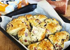 Savoury Slice, Savory Scones, Savoury Pies, Colby Cheese, Ham And Cheese, Ham Recipes, Baking Recipes, Bread Recipes, Gluten Free Scones