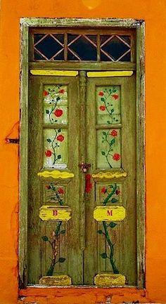Greece Grece p Greece Greece Greece p Door Knockers, Door Knobs, Door Handles, Cool Doors, Unique Doors, When One Door Closes, Door Gate, Rustic Doors, Painted Doors