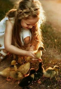 New Ideas Baby Bird Art Children Animals For Kids, Cute Baby Animals, Animals And Pets, Precious Children, Beautiful Children, Children Photography, Animal Photography, Jolie Photo, Bird Art