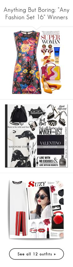 """Anything But Boring: ""Any Fashion Set 16"" Winners"" by majezy ❤ liked on Polyvore featuring Diane Von Furstenberg, Mark Cross, Christian Louboutin, Dolce&Gabbana, Certifeye, Victoria's Secret, floral, Dark, Valentino and Lancôme"
