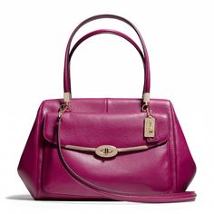 The Madison Madeline East/West Satchel in Leather from Coach