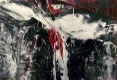 Encaustic auf Papier, schwarzer Hintergrund, SILBER (kommt leider nicht gut auf dem Foto ;-), sehr leuchtend im Original) 21x30 cm, ohne Rahmen Painting, Art, Paper, Black Backgrounds, Frame, Abstract, Silver, Painting Art, Paintings