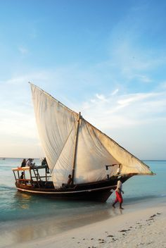 Zanzibar, Tanzania - traditional East African boat. We hope to have one the night before our wedding in Watamu