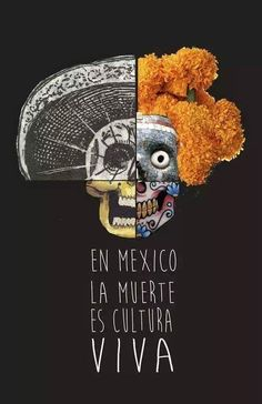 "This says, "" In Mexico death is living culture."" Day of the Dead brings up this culture that is celebrating the life of the dead. Mexican American, American History, Native American, Mexican Heritage, Mexican Style, Spanish Heritage, Mexico Culture, Mexico Art, Mexico Travel"