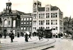 Open bijwagen 240 als lijn 1 op het Koningsplein, c. 1906