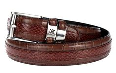Mens Belts  - Pin it :-) Follow us .. CLICK IMAGE TWICE for our BEST PRICING ... SEE A LARGER SELECTION of Mens Belts s at http://azgiftideas.com/product-category/mens-belts/ - men, mens gift ideas, mens wear, valentines  - Stacy Adams Snakeskin Belt