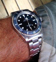 Rolex 5513 feet first