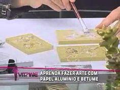 vitrine20100818 Arte com papel alumínio e betume