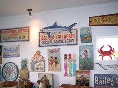 Vintage coastal signs.
