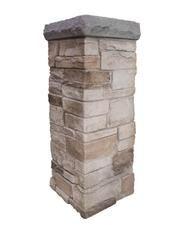Corners and Columns Faux Stone Sheets, Faux Stone Panels, Porch Column Wraps, Stone Veneer Exterior, Faux Rock, Stone Pillars, Porch Posts, Porch Columns, Diy Porch