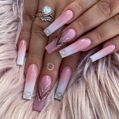 "Claw Addicts on Instagram: ""Credit @cheyennesnails_ 💗💗💗 ❥ ❥ #clawaddicts #nails #claws #nailsofinstagram #nailsaddict #notd #naildesign #nailstagram #nailart…"" Cute Acrylic Nail Designs, Cute Acrylic Nails, Nail Art Designs, Nails Design, Purple And Pink Nails, Purple Glitter, Valentine Nail Art, Nail Artist, Beauty"