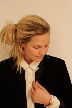 Maria Skappel wearing her Cherish necklace