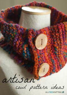 20 Artisan Knit Cowl Pattern Ideas | AllFreeKnitting.com