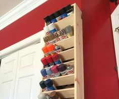 Garage Spray paint storage rack with good tutorial.