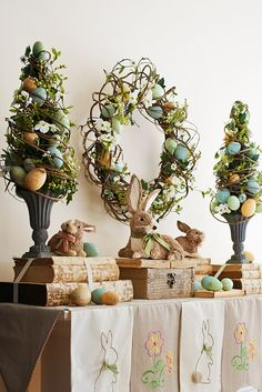 Pier 1's Floral Speckled Eggs Topiary is the best of spring wrapped into one colorful display. Hand-sculpted eggs are woven within a delicate mixture of faux flowers, berries and natural grapevine, all in a classic base.