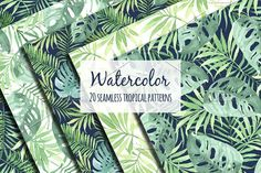 Tropical designs in watercolor. by Natali_art on @creativemarket