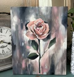 I think i've painted enough for today time to binge read art artist flower flowerpainting flowerart artgram instaart… Artist Painting, Painting & Drawing, Watercolor Paintings, Acrylic Paintings, Rose Paintings, Pink Painting, Art Painting Flowers, Black Canvas Paintings, Watercolor Tips