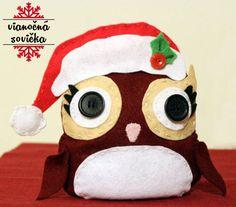 Vianočná sova z filcu :)