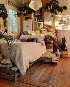 56 Minimalistische Schlafzimmerdekoration, die begeistert 56 Minimalist bedroom decoration that inspires 54 Modern Bedroom Interiors That So Minimalist AndMinimalist Bohemian Bedroom / Boho Chincredible 45 cozy bedroom decoration I Bohemian Bedroom Decor, Bedroom Inspo, Bedroom Ideas, Bohemian Decorating, Bedroom Designs, Small Bedroom Inspiration, Bedroom Themes, Stylish Bedroom, Modern Bedroom
