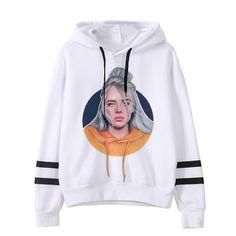 Spring Billie Eilish Hoodie Print Hooded Women Men Sweatshirt Clothes Harajuku Casual Hoodies Kpop Sweatshirts Size S Color 1 Hoodie Sweatshirts, Printed Sweatshirts, Trendy Hoodies, Hoodies For Sale, Billie Eilish Merch, Harajuku, K Pop, Models, Unisex
