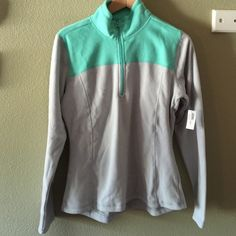 Teal and gray quarter zip Brand new with tags! Feel free to make offers or ask any questions Old Navy Jackets & Coats