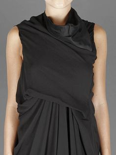 Black Party w/ Rick Owens tornado long dress with crossed front