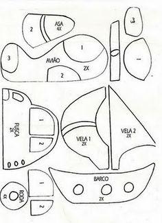 Coche, barco y avión - Car, ship and airplane