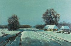 Wiktor KORECKI (1890-1980)  Księżycowa noc, lata 60. XX w. olej, płótno; 59,5 x 90 cm; sygn. l. d.: WIKTOR KORECKI;