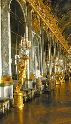Palace of Versailles, France - Summer 2010...so much gold and oppulence here while others suffered during this time.  It was an amazing experience.