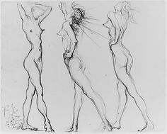 ▲ Three Nudes  Salvador Dalí  (Spanish, Figueres 1904–1989 Figueres)