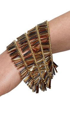Jewelry Design - Memory Wire Bracelet with Seed and Bugle Beads - Fire Mountain Gems and Beads