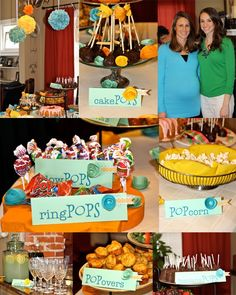 """Just kidding, she didn't pop, but my sister's baby shower was this weekend and it was so much fun! Molly (Jerheme's sister) and our good friend Kara helped host the party with me. We sort of flew with the """"She's about to POP"""" theme and it turned out so cute! Check out the spread...The food was all…"""