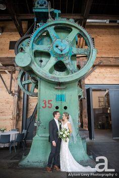 Industrial wedding photography inspiration