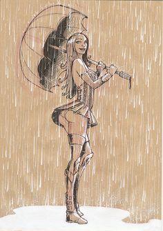 Women and the rain