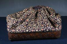 Japanese Antique Woven Bamboo Shingen信玄 Enclosed Basket Bag from manyfacesofjapan on Ruby Lane