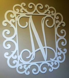 metal monogrammed letter in a decorative frame single initial in vine script personalized monogrammed frame wedding sign family sign - Monogrammed Picture Frames