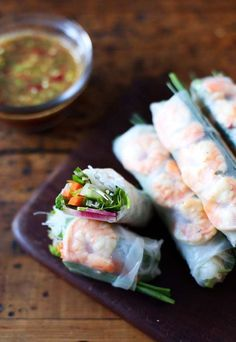 Packed with herbs, vegetables and shrimp, nothing beats a fresh Vietnamese-style spring roll.