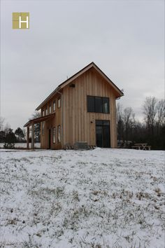 Exterior view of cabin looking south. Modern mountain farmhouse, cabin, corten steel metal roofing, cedar siding, pine paneling interior, marvin windows and doors, casement windows, glulam beams, tongue and groove floor decking, tongue and groove roof deck, SIPs panels, stained concrete floor, open floor plan, loft, alternating tread stair, architectural design, architect, mountain views, front porch, venacular design Stained Concrete, Concrete Floors, Casement Windows, Windows And Doors, Design Architect, Architecture Design, Steel Metal, Metal Roof, Sips Panels