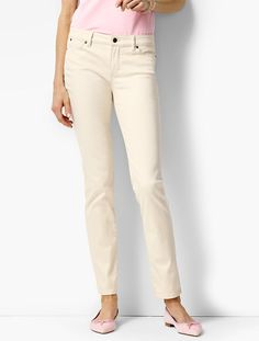 The Flawless Five-Pocket Ankle - Vanilla Wash - Talbots
